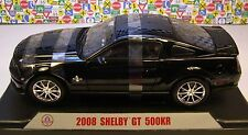 SHELBY COLLECTIBLES 1:18 SCALE DIECAST METAL BLACK 2008 SHELBY GT500KR