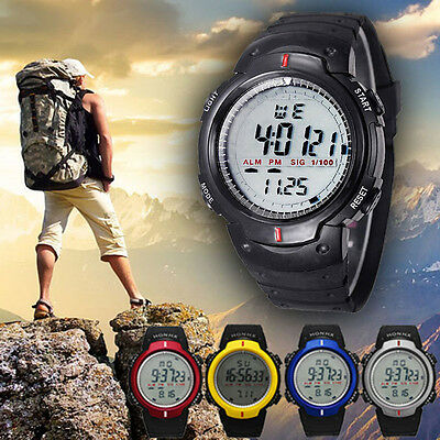 Waterproof Outdoor Men's Sports Watch LED Digital Wristwatch Date Alarm Watches
