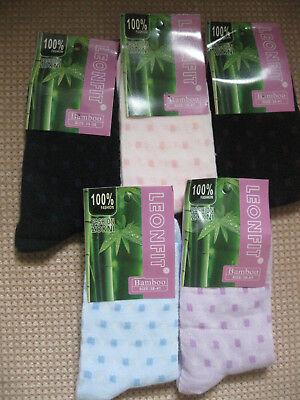 5-7 Deer design sizes 3-5 Ladies Bamboo socks by Leonfit