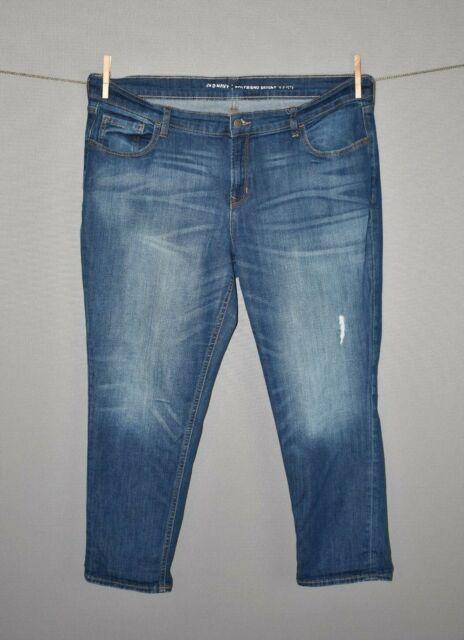 OLD NAVY $45 Medium Wash Distressed Skinny Boyfriend Denim Jean Size 14