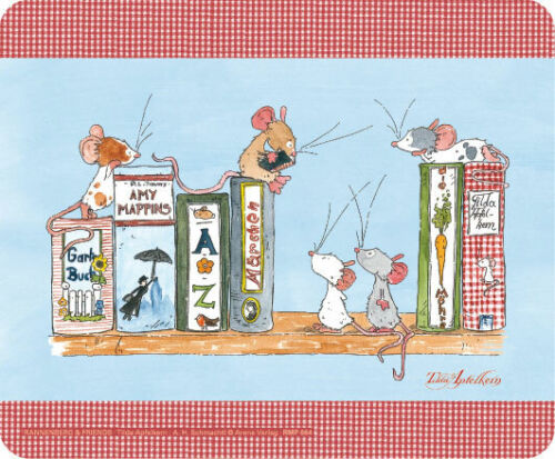 Mauspad*Mousepad rutschfest Maus Pad/&Design*TILDA*Maus*Bücherregal*Nettworking
