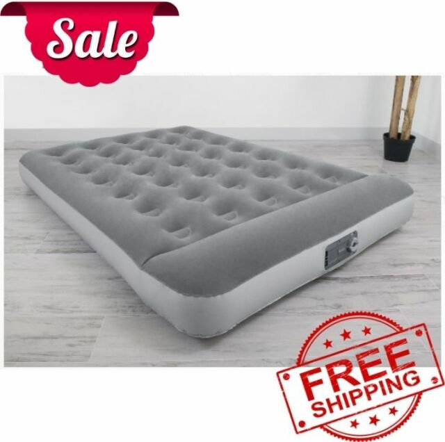 Full Size Airbed Mattress with Built-In Pump AC Pump Flocked Sleeping Camping