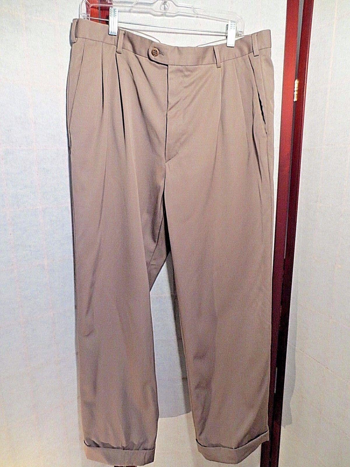 ZANELLA Dress Pants Bennett 36 32 brown Wool great