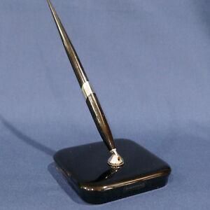 Fantastic Vintage Sheaffers Black Fountain Pen Desk Set Glass Base Interior Design Ideas Helimdqseriescom