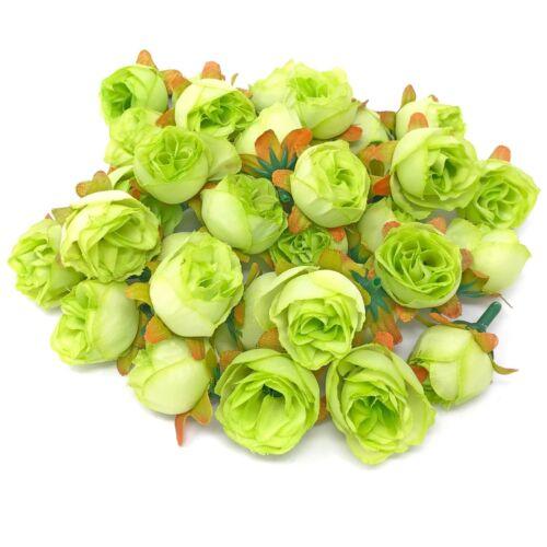 royaume-uni vendeur Vert rose bud décoratif fleurs synthétique imitation soie