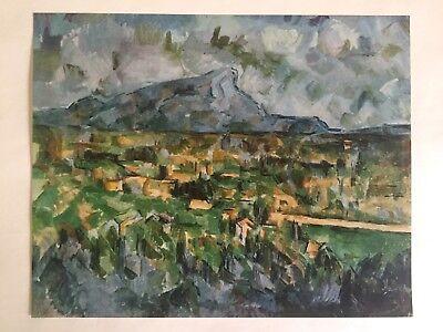 """1952 Vintage Full Color Art Plate /""""MONT SAINTE VICTOIRE/"""" by CEZANNE Lithograph"""