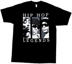 ae0aab7d4 HIP HOP LEGENDS T-shirt 2Pac Tupac Biggie EazyE Adult Mens S-2XL ...