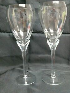 Romanian-Crystal-Tulip-Stem-Wine-Glasses-2-set-9-3-8-034-Tall-16-Oounce