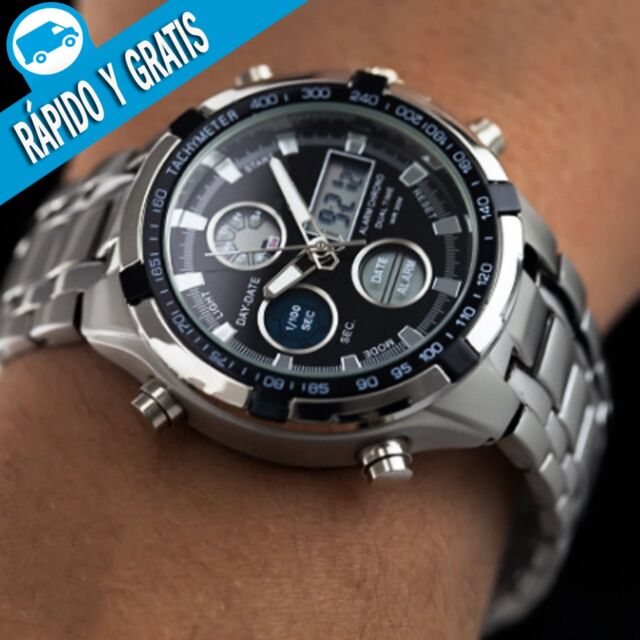 d5a9bf0fcefd Reloj Hombre Digital Deportivo Militar de Caballero Relojes Hombres Esfera  Negro