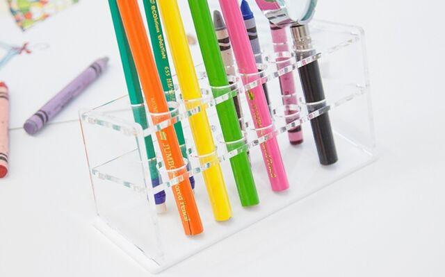 CLEAR ACRYLIC PEN/PENCIL HOLDER_Useful, beautiful item, organize desk!