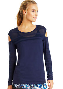 New-NWT-Womens-Lorna-Jane-Dark-Blue-LS-Top-Run-Walk-Gym-Yoga-S-Active-Burnout