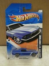 HOT WHEELS- CUSTOM '67 MUSTANG- BLUE- NIGHTBURNERZ- NEW ON CARD- L149