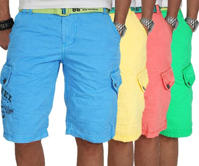 Stylische Herren Sommer Bermuda Cargo Shorts kurze Hose inkl. Gürtel NEU B25