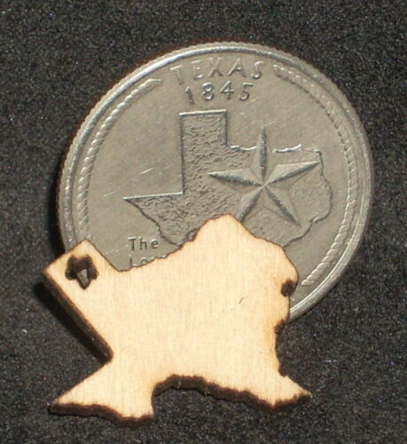 Silhouette Wooden Wall Plaque 1:12 Dollhouse Miniature Small Texas Outline