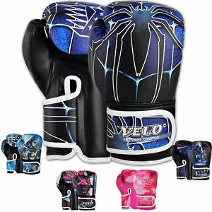 VELO Kids Boxing Gloves Junior Punch Bag Training Sparring Mitts 4oz, 6oz