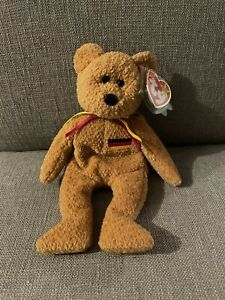 Retired-Germania Beanie Baby MINT W/ Tag Covers Excellent Condition