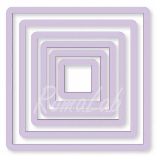 6 FUSTELLE quadrati SET compatibili con Big Shot vari diametri square punch