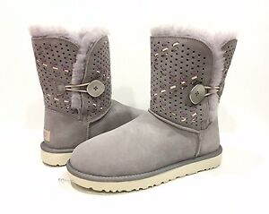 120ae21591e Details about UGG 1014617 BAILEY BUTTON TEHUANO BOOTS GREY PENCIL LEAD  WOMEN'S US 7 -NIB