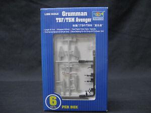 TRUMPETER-1-350-SCALE-GRUMMAN-TBF-TBM-AVENGER-BOX-OF-6-UNITS-MODEL-KIT-PLASTIC