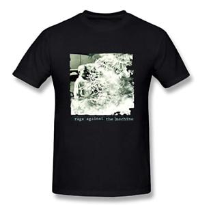 Men-039-s-Casual-Rage-Against-The-Machine-Tee-Black