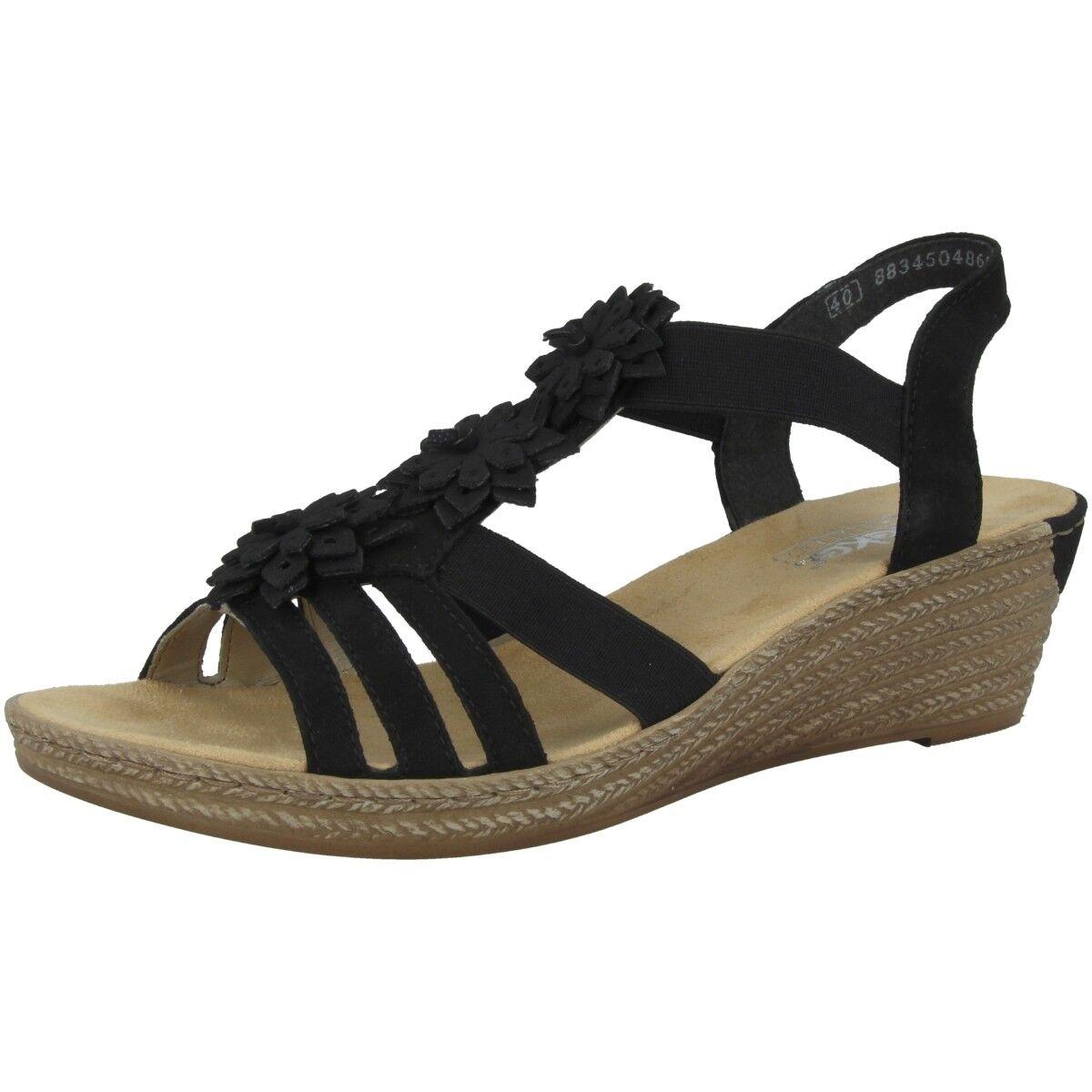 Rieker Talamon-Vendee Chaussures pour Femme Anti-stress Sandale Talon Compensé