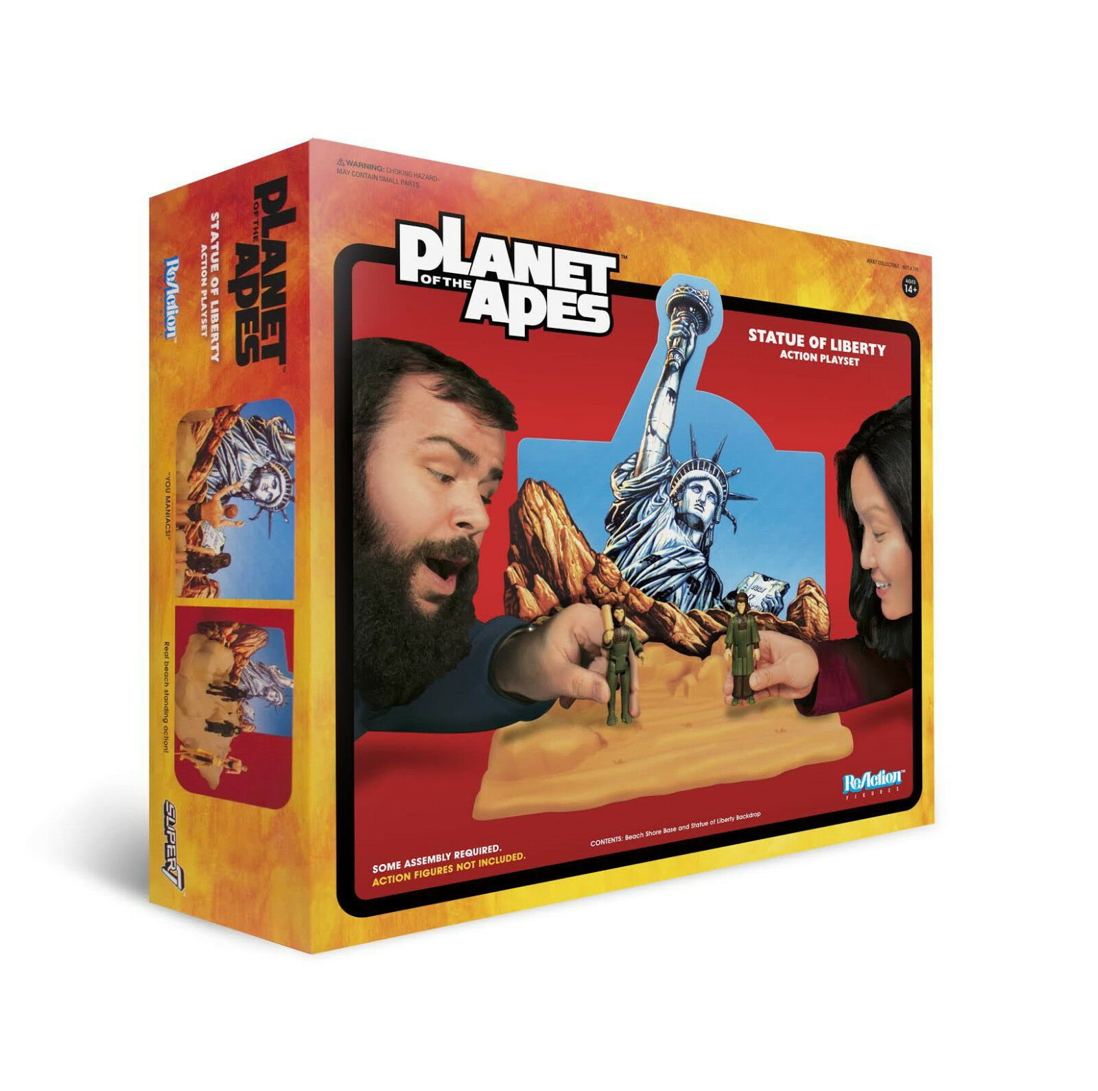 Super7 SDCC 2018 Exclusive ReAction Planet of The Apes Statue of Liberty Playset