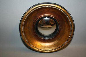Glace-Miroir-dit-034-oeil-de-sorciere-034-style-Napoleon-III-Noir-cuiv-Diam-15-5-cm