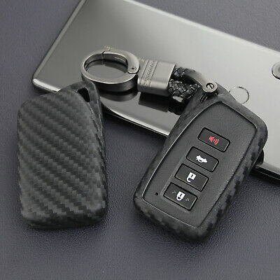 Lexus Key Fob >> For Lexus Carbon Fiber Car Key Fob Case Cover Chain Ring Keychain Accessories Ebay