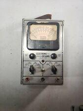 Vintage Electronic Designs Model 100 Multimeter Voltmeter Ohmmeter Untested