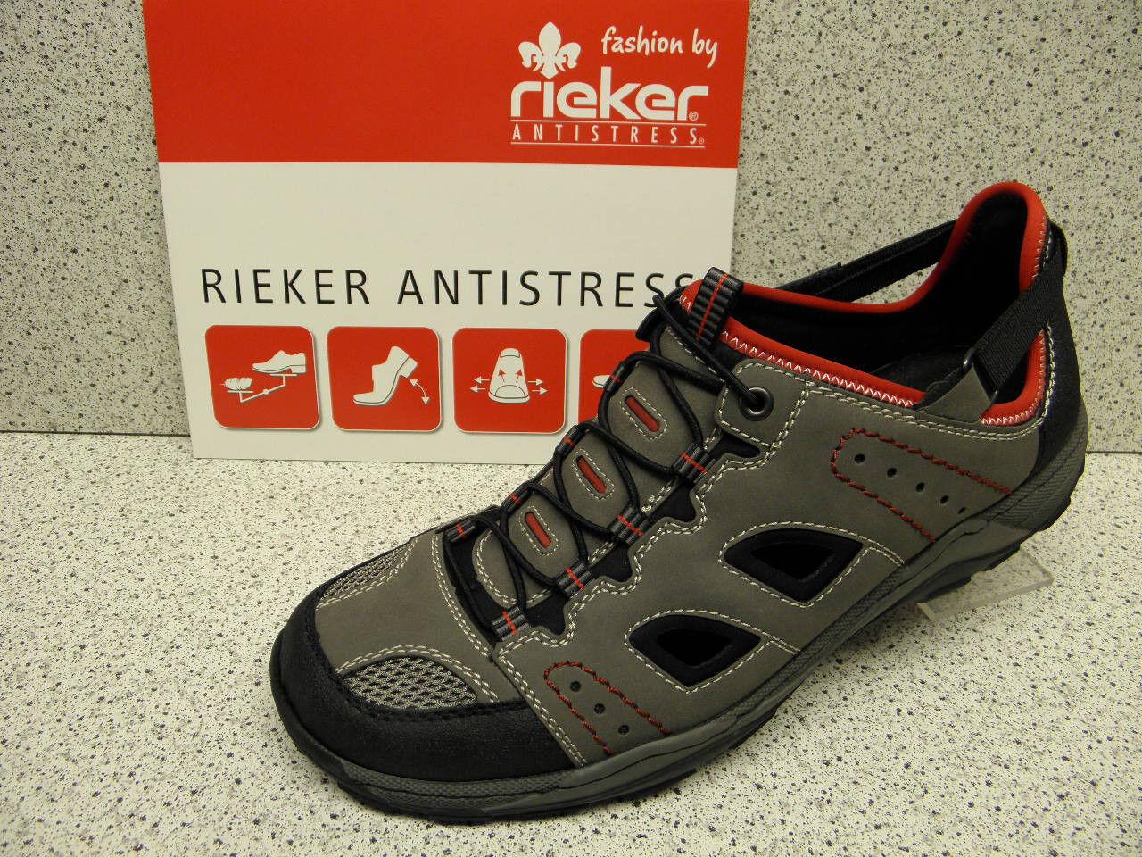 Rieker ® riduce, Slipper, Grigio, Velcro, + GRATIS Premium-CALZE (r89) | Raccomandazione popolare  | Uomo/Donna Scarpa