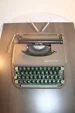 Vintage Smith & Corona Skywriter Typewriter Brown with Green Keys With Case