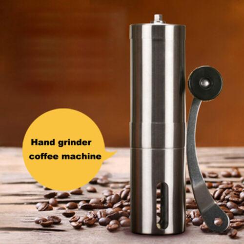 mini cuisine laminoir manuel l/'acier inoxydable silver burr moulin à café