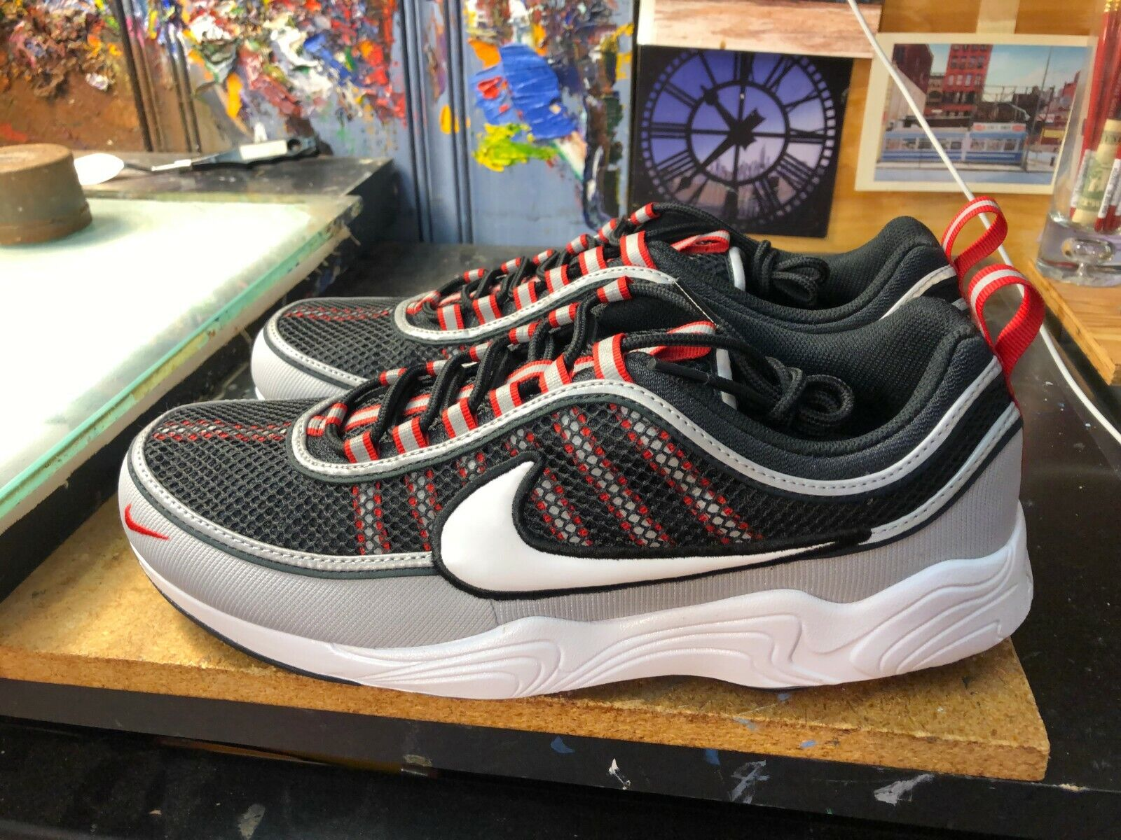 Nike Air Zoom Spiridon '16 Black White-Wolf Grey Size US 13 Men 926955 010 New