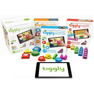 Tiggly Learner Kit Toy f/ iPad - 14 Interactive toys w/ 12 learning apps 17012