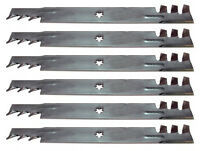 Set Of 6 Sears Craftsman 42 Gator Style Mulching Mower Blades Free Shipping
