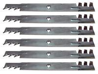Set Of 6 Sears Craftsman 42 Gator Style Mulching Mower Blades Free Shipping
