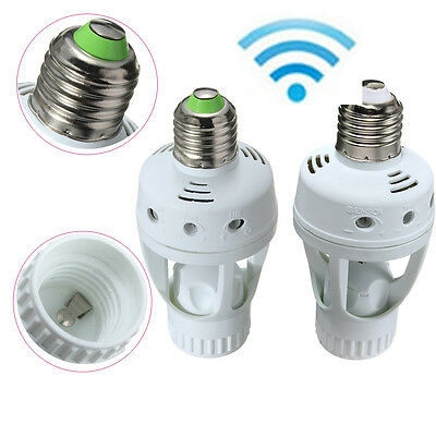 AC 110V 220V E27 Infrared PIR Motion Sensor LED Lamp Bulb Holder Switch 50/60Hz