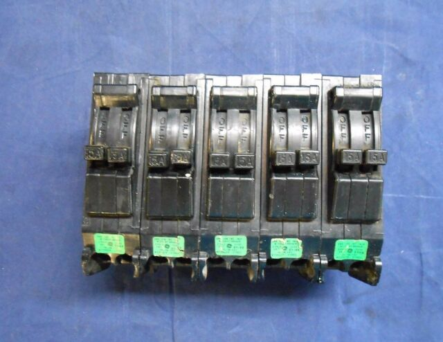 GE 15 Amp 2 Pole Tandem Type TR TR1515 General Electric Circuit ...