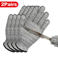 2 Pairs Safety Cut Proof Stab Resistant Stainless Steel Wire Mesh Butcher Gloves