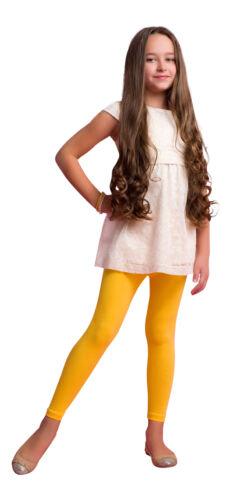 Girl Kids Cotton Full Ankle Length Summer School Leggings All Age3-12 Years