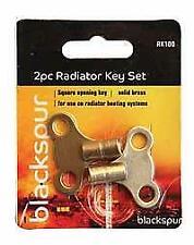 Toolzone 2Pc Radiator Keys Brass