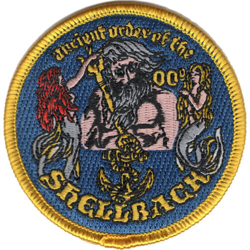 "US Navy Shellback Ancient Order Small Iron On Patch 3/"" Licensed"