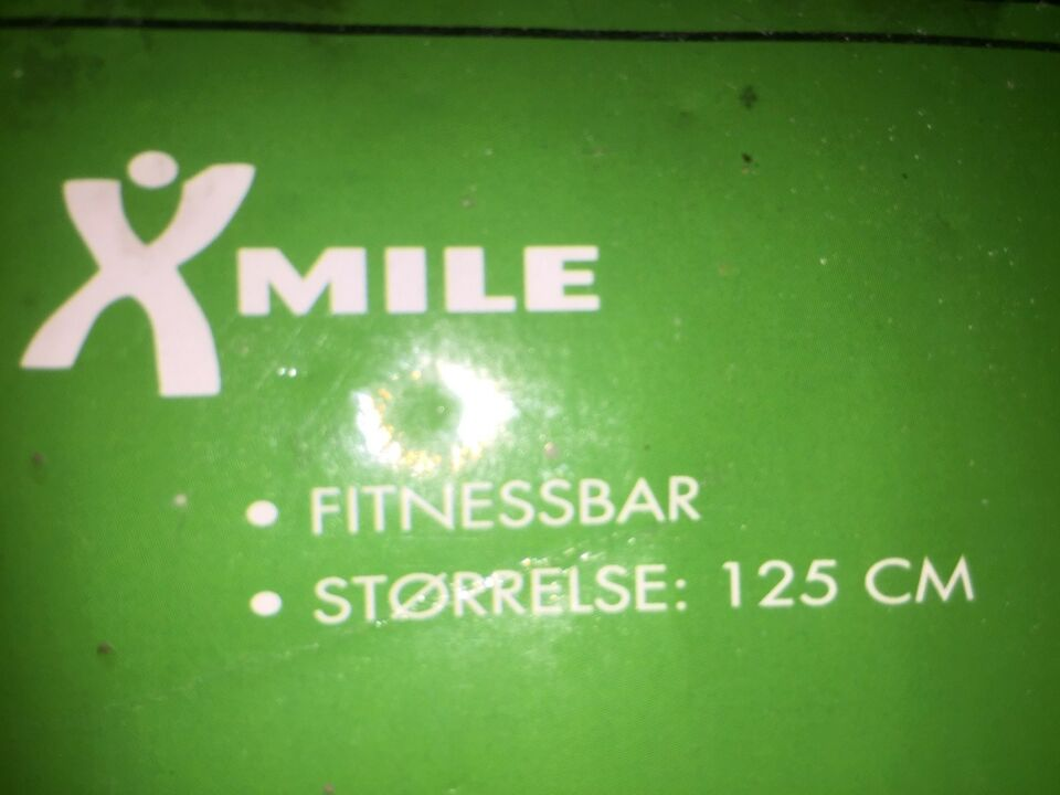 Vægtstang, Fitness bar 125 cm NY med manual, X mile