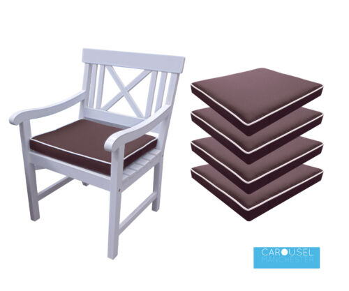 Mousse à mémoire de chaise de jardin Coussin Siège PadQté/'s de 1-650x45x8Marron