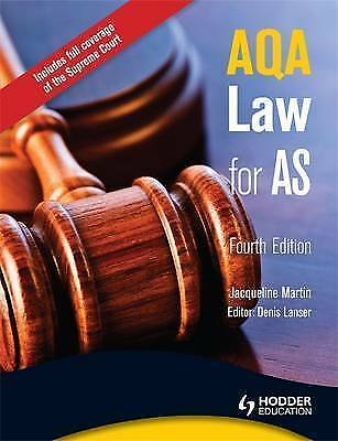 1 of 1 - AQA Law for AS, 4th Edition,Jacqueline Martin, Denis Lanser