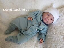 RINATO Baby Boy Doll... BELLISSIMO sveglio Bambola #RebornBabyDollART Regno Unito