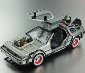 BACK-TO-THE-FUTURE-3-1-24-DeLorean-Time-Machine-DIECAST-CAR-NEW