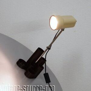 alte-Chrom-Stab-Lampe-Tischleuchte-Buerolampe-Utensilo-Vintage-60er-70er-Jahre