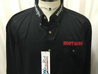 Wrangler George Strait Boot Barn Rodeo Embroidered L/s Shirt Pocket Xl