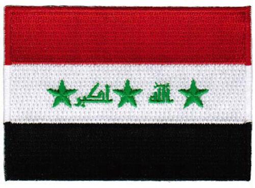 IRAQ FLAG embroidered iron-on PATCH IRAQI EMBLEM war military SADDAM HUSSEIN